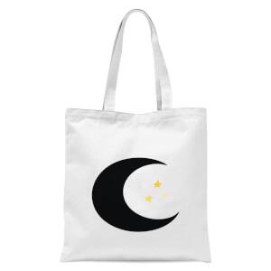 Moon & Stars Tote Bag - White