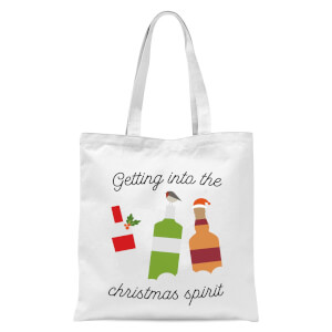 Getting Into The Christmas Spirit Tote Bag - White
