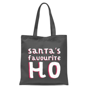 Santas Favourite Ho Tote Bag - Grey