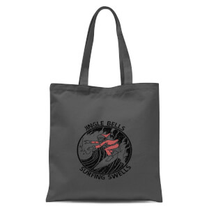 Jungle Bells, Surfing Swells Tote Bag - Grey