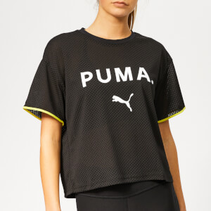 Puma Women's Chase Mesh Short Sleeve T-Shirt - Puma Black