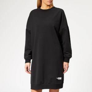 Puma Women's TZ Long Crew Neck Sweatshirt Dress - Cotton Black