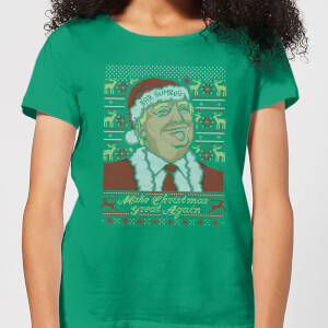 Make Christmas Great Again Women's Christmas T-Shirt - Kelly Green
