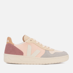 Veja Women's V-10 Suede Trainers - Multico/Rose/Natural