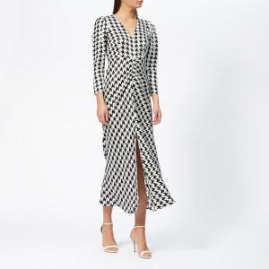 RIXO Women's Ziggy Houndstooth Dress - Black/White
