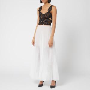 Christopher Kane Women's Lace Crotch Corset Pleat Dress - Off White