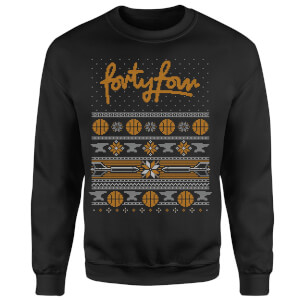 How Ridiculous Forty Four Knit Christmas Sweatshirt - Black