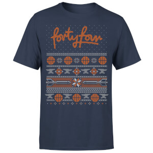 How Ridiculous Forty Four Knit Men's Christmas T-Shirt - Navy