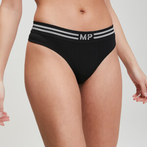 MP Women's Essentials Seamless Thong - Black