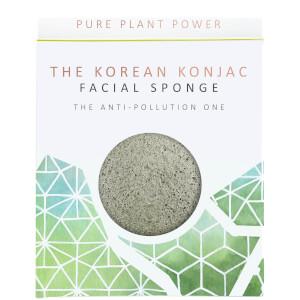 Esponja facial The Elements Earth de The Konjac Sponge Company - Turmalina energizante 30g