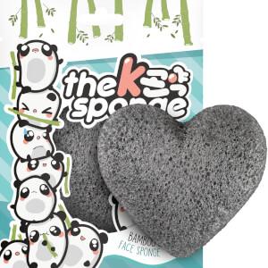 The Konjac Sponge Company K-Sponge Heart Sponge gąbka oczyszczająca pory – Bamboo Charcoal 12 g