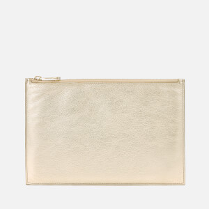Aspinal of London Women's Essential Pouch Large - Gold Pebble