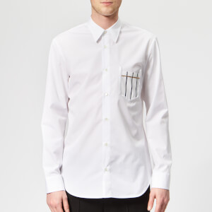 Maison Margiela Men's Slim Fit Cotton Poplin Shirt - White