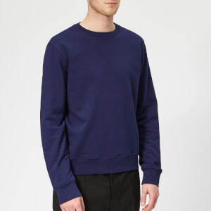 Maison Margiela Men's Basic Elbow Patch Sweatshirt - Ink Blue