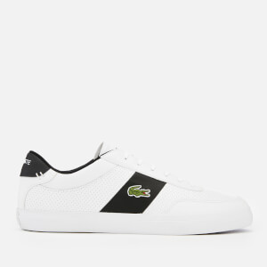 Lacoste Men's Court-Master 119 2 Perforated Leather Trainers - White/Black