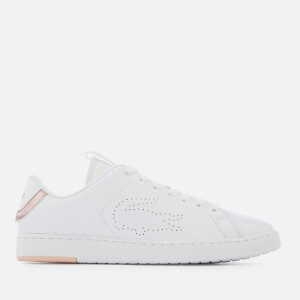 Lacoste Women's Carnaby Evo Light-WT 1193 Leather Trainers - White/Light Pink