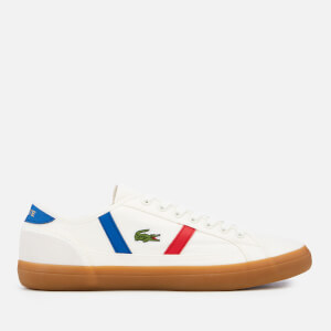 Lacoste Men's Sideline 119 2 Canvas Trainers - Off White/Gum