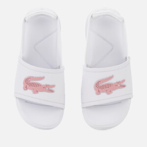 Lacoste Toddler's L.30 Slide 119 2 Sandals - White/Light Pink
