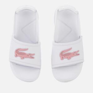 c7a27e084 Lacoste Toddler s L.30 Slide 119 2 Sandals - White Light Pink