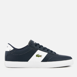 Lacoste Men's Court-Master 119 2 Perforated Leather Trainers - Navy/White