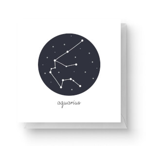 Aquarius Square Greetings Card (14.8cm x 14.8cm)