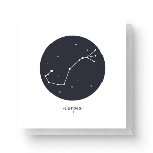 Scorpio Square Greetings Card (14.8cm x 14.8cm)