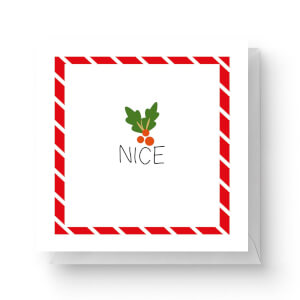 Nice Square Greetings Card (14.8cm x 14.8cm)