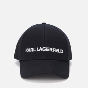 Karl Lagerfeld Women's Karl's Essential Logo Cap - Black