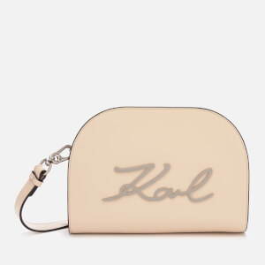 Karl Lagerfeld Women's K/Signature Big Cross Body Bag - Biscuit