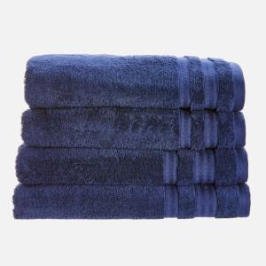 in homeware Supersoft 100% Cotton 4 Piece Towel Bale - Navy