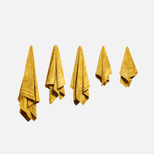 in homeware 100% Egyptian Cotton Pile 5 Piece Towel Bale - Yellow