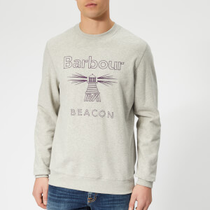 Barbour Beacon Men's Stitch Jumper - Grey Marl