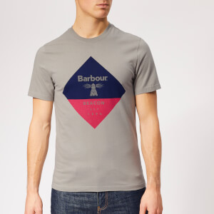 Barbour Beacon Men's Diamond T-Shirt - Smoke