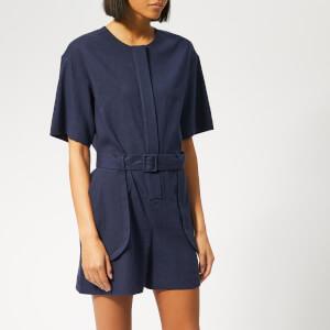 Maison Kitsuné Women's Olivia Shirt Jumpsuit - Navy
