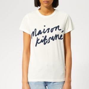Maison Kitsuné Women's Handwriting T-Shirt - Latte