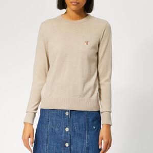 Maison Kitsuné Women's Merinos R Neck Pullover - Beige