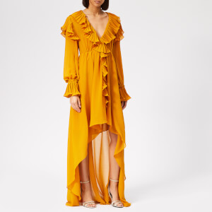 Philosophy di Lorenzo Serafini Women's Ruffle Detail Midi Dress - Yellow