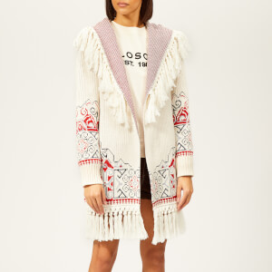 Philosophy di Lorenzo Serafini Women's Tassel Fringed Cardigan - Cream