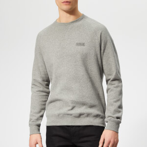 Barbour International Men's Essential Crew Sweatshirt - Anthracite Marl