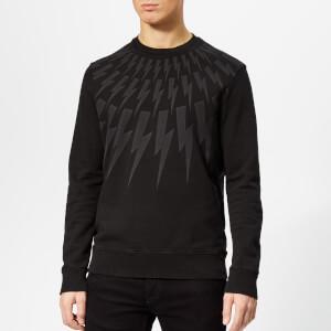 Neil Barrett Men's Lightning Bolt Sweatshirt - Vintage Black