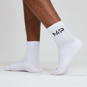 MP Essentials Men's Crew Socks - White (2 Pack)