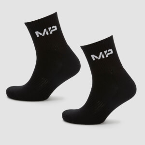 MP Men's Essentials Crew Socks - Black (2 Pack)