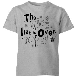The Nice List Is Overrated Kids' T-Shirt - Grey