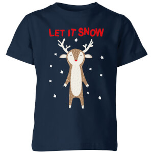 Let It Snow Kids' T-Shirt - Navy