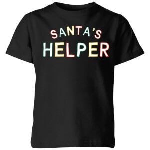 Santa's Helper Kids' T-Shirt - Black