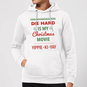 Die Hard Is My Christmas Movie Christmas Hoodie - White