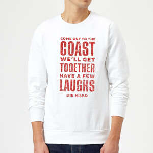 Die Hard Come To The Coast Christmas Sweatshirt - White