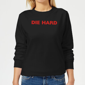Die Hard Logo Women's Christmas Sweatshirt - Black