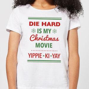Die Hard Is My Christmas Movie Women's Christmas T-Shirt - White