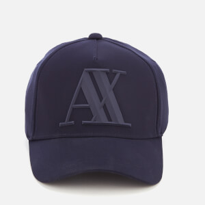Armani Exchange Men's Rubber Logo Cap - Navy